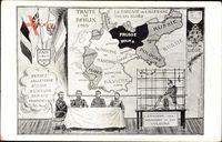Landkarten Poincaré, Nikolaus II., Albert I., Georg V., Wilhelm II.