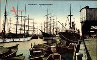 Hamburg Mitte Altstadt, Blick auf den Segelschiffhafen