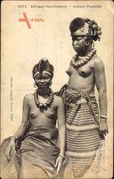 Afrique Occidentale, Jeunes Foulahs, Junge Mädchen, Barbusig