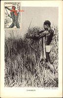 Kamerun, Chasseur, Afrikanischer Jäger mit Pfeil und Bogen