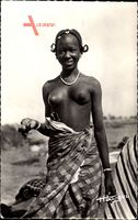 Afrique Occidentale Francaise, Jeune Femmes, Junges Mädchen, Barbusig