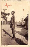 Senegal, Afrique Occidentale Francaise, Afrikanerin, Barbusig
