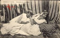 Maghreb, Scènes et Types, Mauresques Couchées, Barbusig