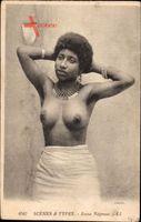 Scenes et Types, Jeune Negresse, Frau mit entblößter Brust