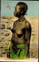 Dakar Senegal, Scenes et Types, Femme Senegalaise, Frau mit entblößter Brust