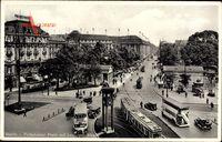 Berlin Tiergarten, Potsdamer Platz mit Leipziger Straße, Straßenbahn