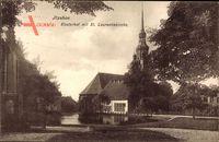 Itzehoe in Schleswig Holstein, Klosterhof mit der St Laurentiekirche