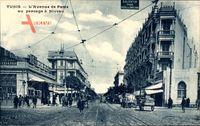 Tunis Tunesien, L'Avenue de Paris au passage à Niveau