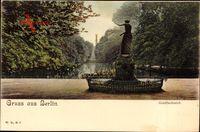 Berlin Tiergarten, Blick auf den Goldfischteich