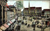 Berlin Mitte, Blick auf den Spittelmarkt, Straßenbahnen