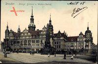 Dresden Zentrum Altstadt, Königliches Schloss und Wettin Obelisk