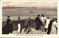 Laboe Probstei Ostsee, Blick vom Turm des Marine Ehrenmals auf Ostsee