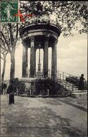 Paris, Buttes Chaumont, Le Belvédère, Pavillon, Aussicht