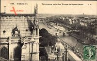 Paris 5e, Panorama pris des Tours de Notre Dame