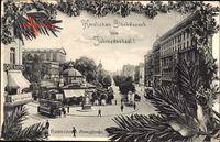 Hannover in Niedersachsen, Glückwunsch Neujahr, Georgstraße, Cafe Kasten