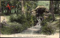 Paris, La Petite Grotte au Bois de Boulogne, Wasserpartie