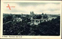 Paris, Panorama vers la Cité, Notre Dame, Seinebrücken