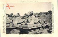 Karnak Ägypten, Devant le grand pylone, Antike Ausgrabungen, Denkmäler