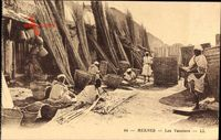 Meknès Marokko, Les Vanniers, Korbmacher bei der Arbeit, Levy & Fils L.L. 44