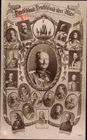 Kaiser Wilhelm II., Fürsten, Bernhard III. von Sachsen Meiningen