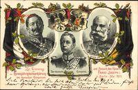 Kaiser Wilhelm II.,Kronprinz Wilhelm,Kaiser Franz Josef I.,Berlin Mai 1900