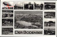 Landkarten Der Bodensee, Zeppelin, Friedrichshafen, Grenze,Schweiz,Österreich