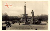 Berlin Tiergarten, Platz der Republik mit Bismarckdenkmal und Siegessäule