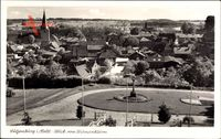 Lütjenburg in Schleswig Holstein, Blick vom Bismarckturm auf den Ort