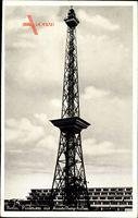 Berlin Charlottenburg, Blick auf den Funkturm mit Ausstellungshallen