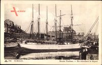 Saint Malo Ille et Vilaine, Bassin Vauban, en attendant le depart,Segelschiff
