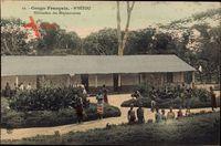 MBetou Französisch Kongo, Habitation des Missionaires, Einheimische