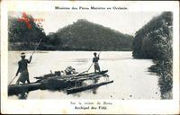 Fidschi Fidji, Sur la Riviere de Rewa, Missions des Peres Maristes en Oceanie