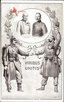 Kaiser Wilhelm II., Kaiser Franz Joseph I., Viribus Unitis