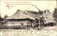 Types de Russie, Village en Petite Russie, Kleinrussland, Ukraine