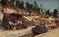 Deutsches Truppenlager in der Champagne, Schützengraben