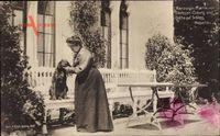 Herzogin Marie von Sachsen Coburg Gotha, Schloss Rosenau, Setter Hund