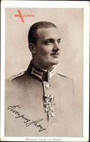 Kronprinz Georg von Sachsen, Portrait, Orden, Uniform