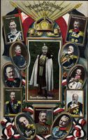Kaiser Wilhelm II., Kronprinz, Rupprecht, Tirpitz, Hindenburg