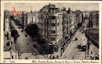 Tunis Tunesien, Place Anatole France, Avenue de Paris et Ave. Theodor Roustan