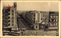 Tunis Tunesien, Place Anatole France et Avenue de Paris, Straßenbahn