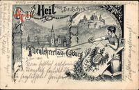 Wappen Coburg in Oberfranken, Turnlehrertag, Gut Heil