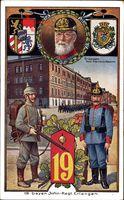 Regiment Erlangen, Regiment 19, König Ludwig III. von Bayern, Kaserne