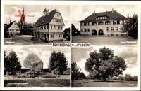 Leinfelden Echterdingen a.d. Fildern, Rathaus, Zeppelin Gedenkstein, Schule