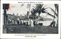 Fidschi, Archipel, Missions des Pères Maristes, Lépreux Makogai, Soeurs