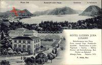 Lugano Kt. Tessin Schweiz, Hotel Luzern Jura, Monte Bré, Generoso um 1927