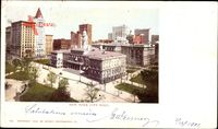 New York City USA, City Hall, Birds Eye View