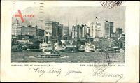 New York City USA, High Buildings, Hochhäuser, Dampfer
