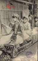 Paris, Teppichweber, Exposition Coloniale 1906, Webstuhl, Place Clichy