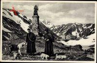 Hospice du Grand St. Bernard, Geistliche, Bernhardiner, Gebirge, Denkmal