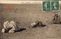Algerien, La priere Arabe, Araber beim Gebet, Moslems, Collection Idéale P.S.